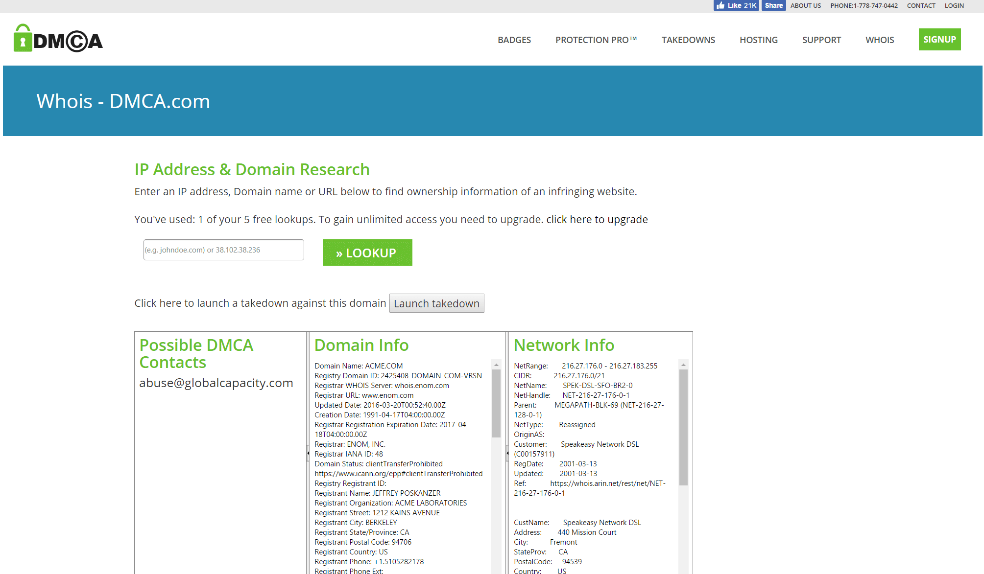 Website Owner Lookup >> Dmca Lookup Tool For Domains And Networks